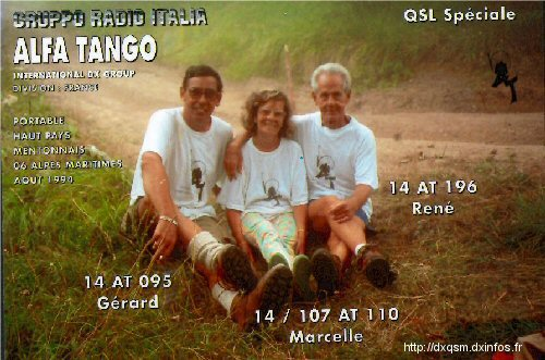 QSL AT Dxcc 014 AT 095 ( Dept.95 ) No1