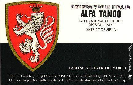 QSL AT Dxcc 001 AT SI ( Siena ) No1