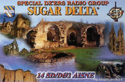 QSL SD Dxcc 014 SD D02  ( Dept 02 )